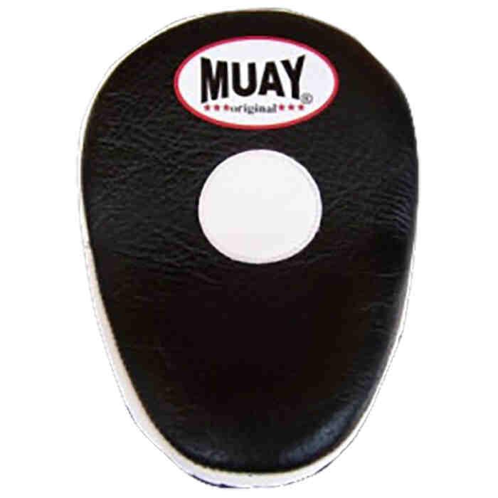 Muay Curved Coaching Mitt - Black / White