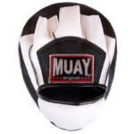 Muay Curved Coaching Mitt – Black / White