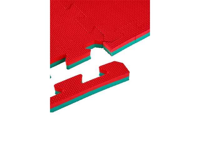 Bruce Lee Karate puzzel mat 2 cm rood/groen-0