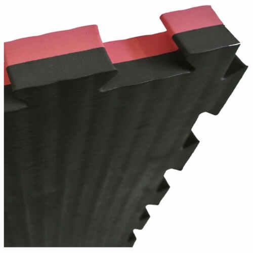puzzelmat 2,5CM zwart/rood - jokasport.nl