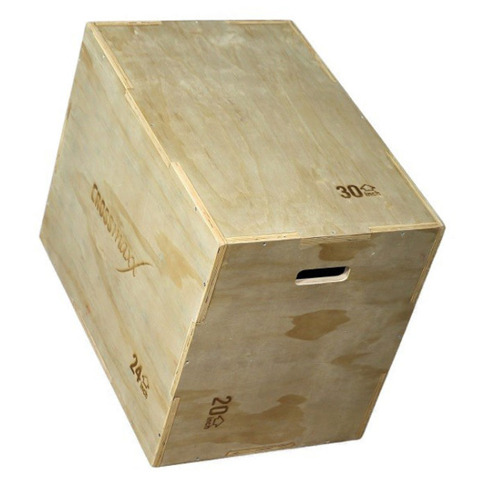 CROSSMAXX HOUTENPLYO BOX (3-LEVEL) VERSTEVIGD - jokasport.nl