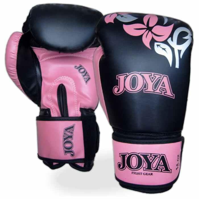joya bokshandschoen 0037 zwart/roze