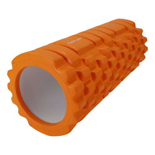 Tunturi Yoga Grid Foam Roller 33cm Oranje – jokasport.nl