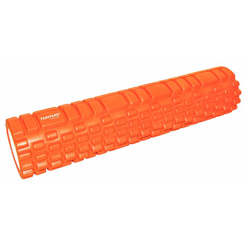 Tunturi Yoga Grid Foam Roller 61cm Oranje - jokasport.nl
