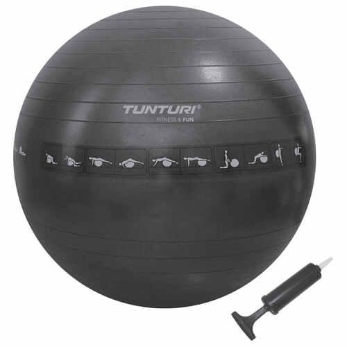 Tunturi Fitness Tunturi Gymball 65cm, Black, Anti Burst - jokasport.nl