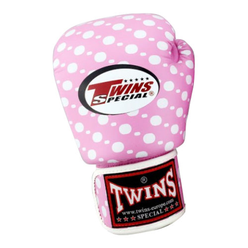 Twins Boxing Gloves Fantasy Pink Dotted