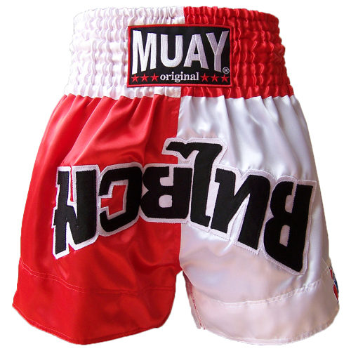Muay Red / White Blocked Thai Short - jokasport.nl