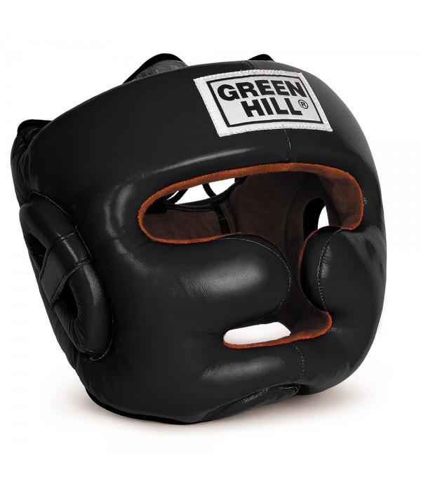 """Green Hill Head Guard """"LUX"""" Black - jokasport.nl"""