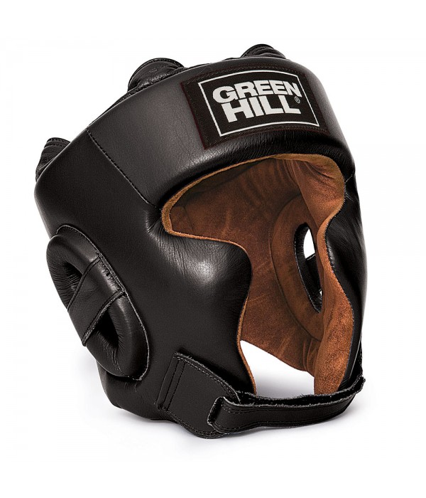 "Green Hill Head Guard ""SPARTAN"" Black - jokasport.nl"