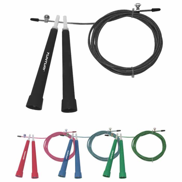 Tunturi Adjustable Steel Jump Rope - jokasport.nl