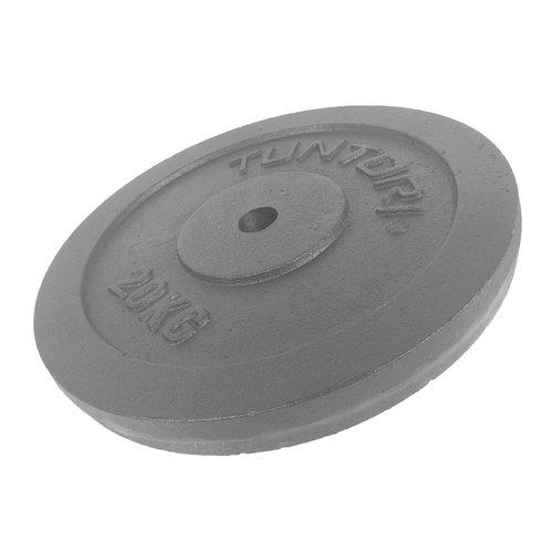 Tunturi Halterschijven Ø 30mm - 20 kilo - per stuk - jokasport.nl