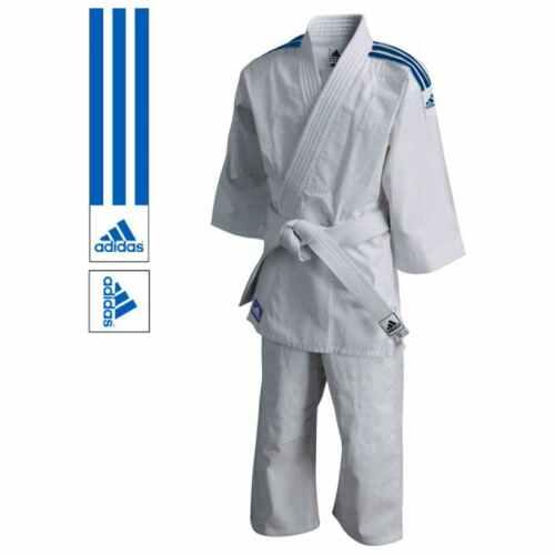 Adidas Judopak J200 Evolution Wit/Blauw - Jokasport.nl