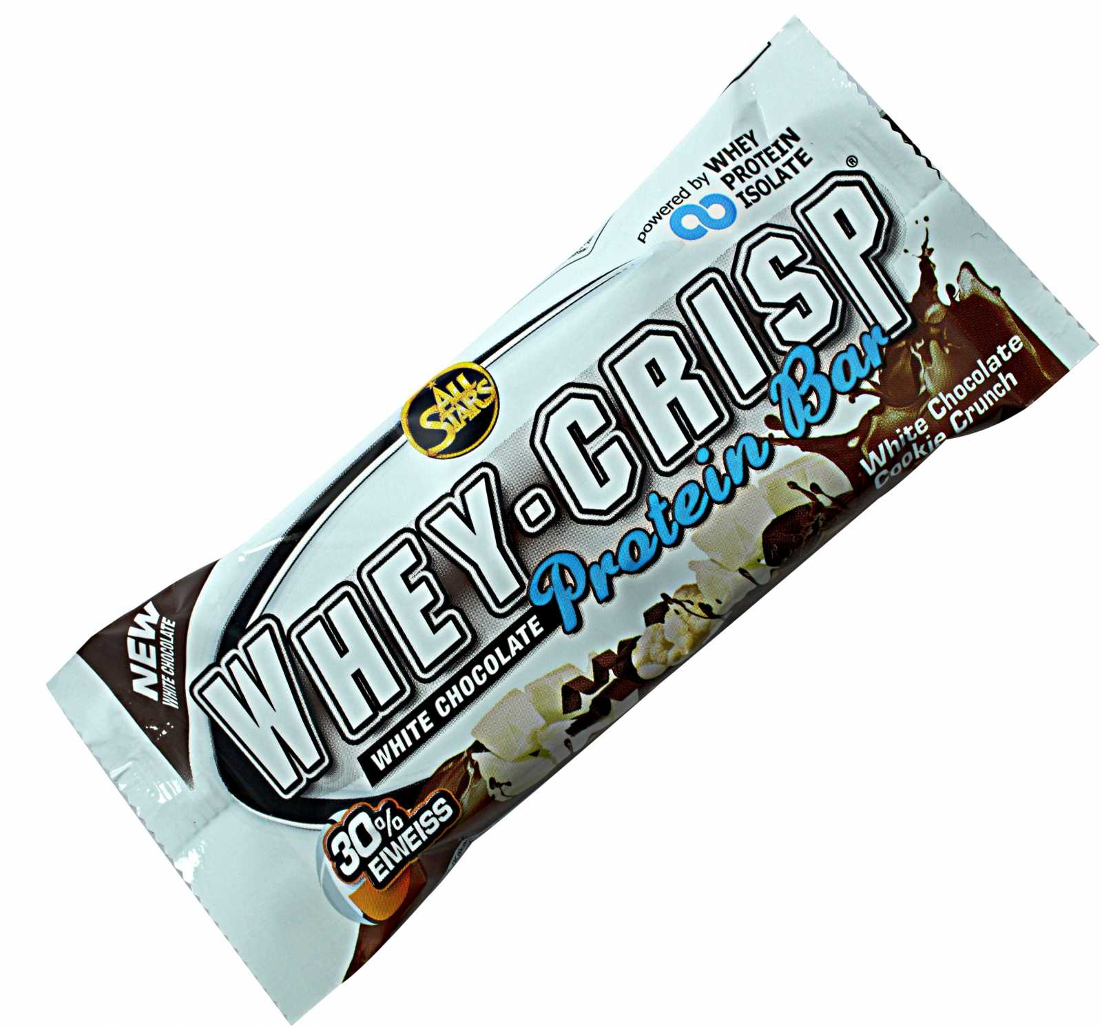 All Stars Whey-Crisp Protein Bar White Chocolate Cookie Crunch - jokasport.nl