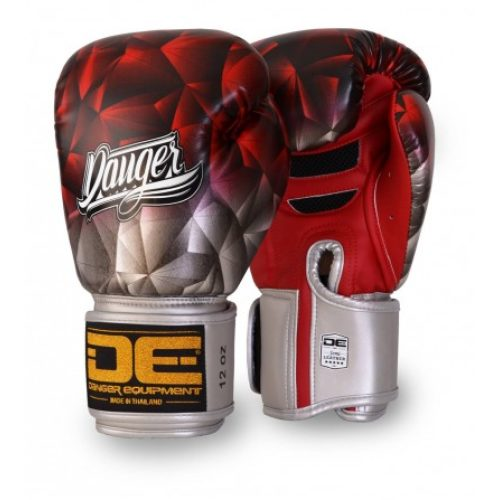 "Danger Boxing Glove ""Fantasy"" Leather Red - jokasport.nl"