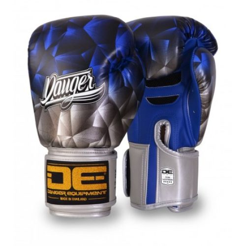 "Danger Boxing Glove ""Fantasy"" Leather Blue - jokasport.nl"