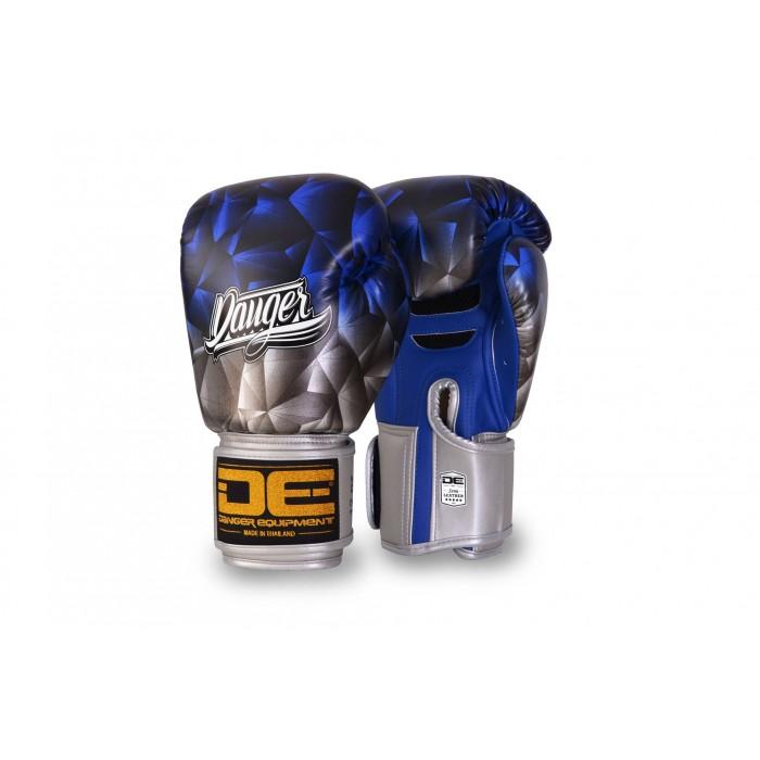 "Danger Boxing Glove ""Fantasy"" Leather Blue – jokasport.nl"