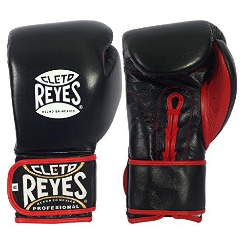 Cleto Reyes Hybrid Training Gloves - Black Red - jokasport.nl