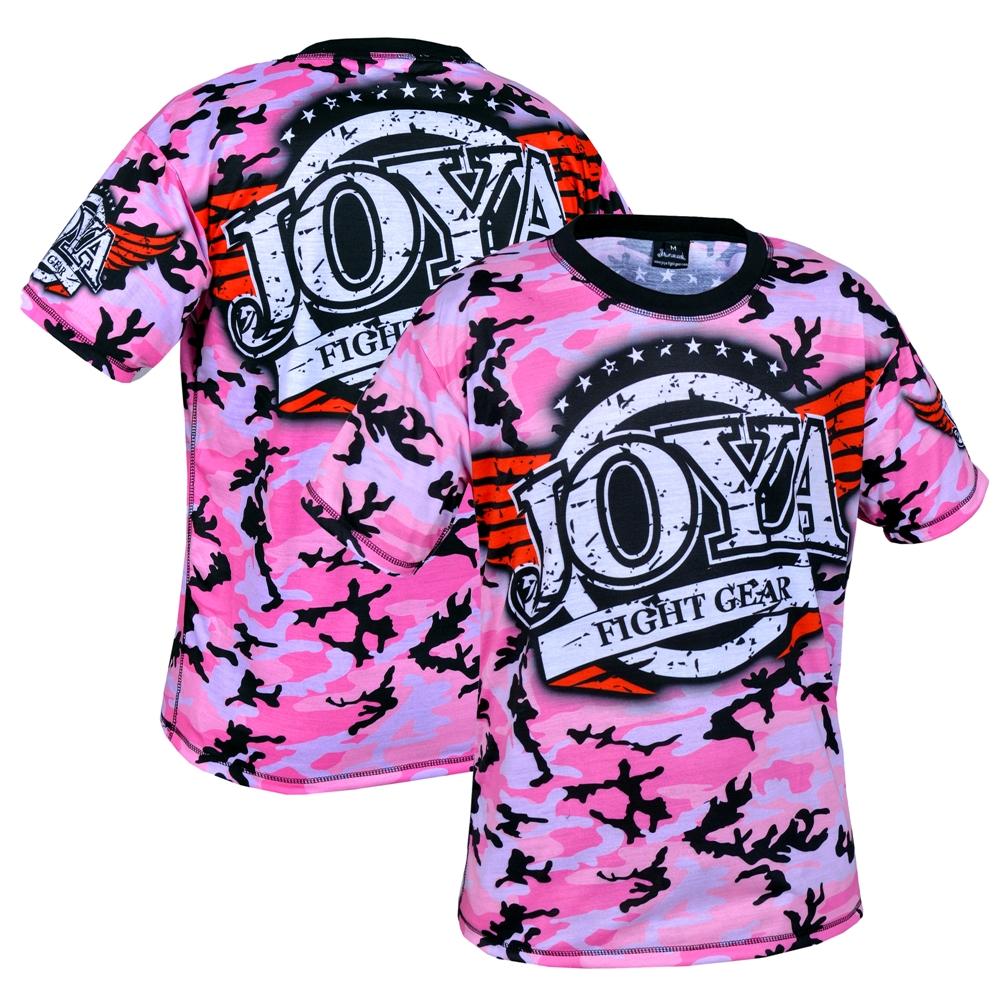 Joya T-Shirt Camo Pink (3005-Pink-camo) - jokasport.nl