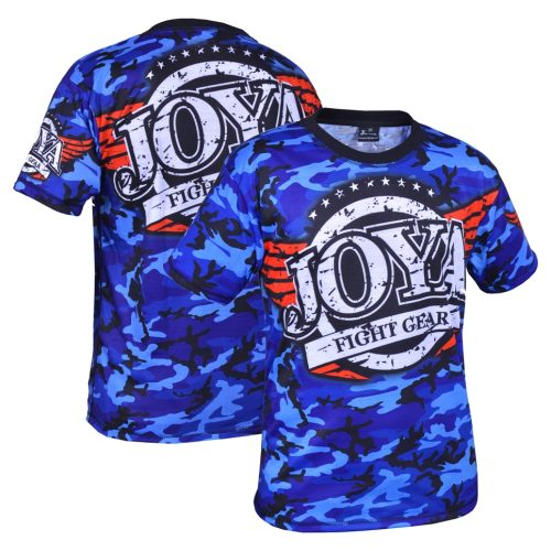 Joya T-Shirt Camo Blue (3005-Blue-camo) - jokasport.nl