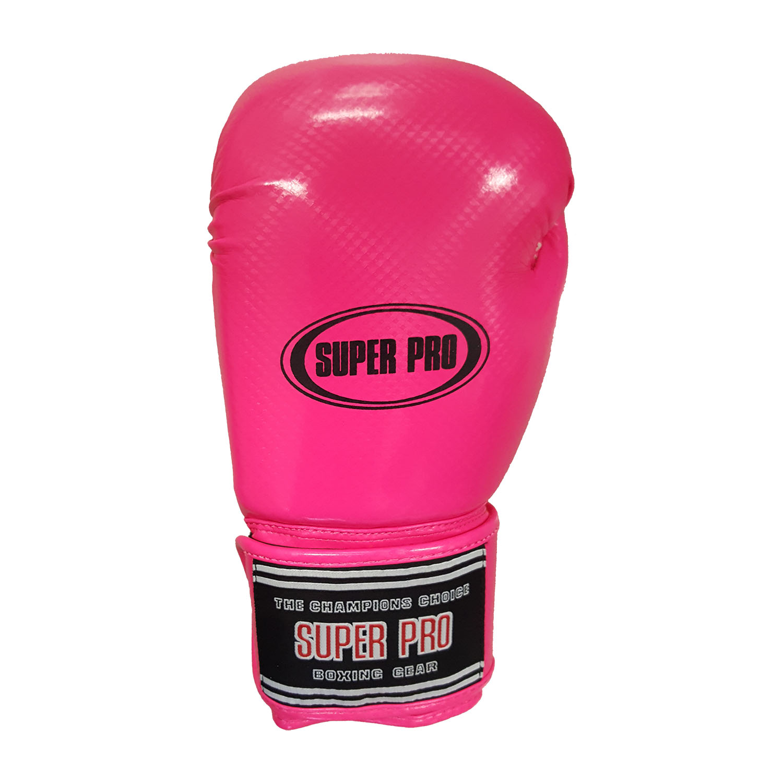 Super Pro Shiny Skintex Gloves - Pink - jokasport.nl