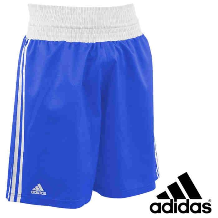 Adidas Slim Fit Lightweight Boxing Short blauw