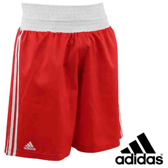 Adidas Slim Fit Lightweight Boxing Short rood