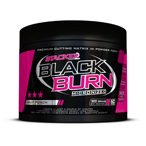 Stacker 2 Black Burn Micronized 300gr (60 servings) - jokasport.nl
