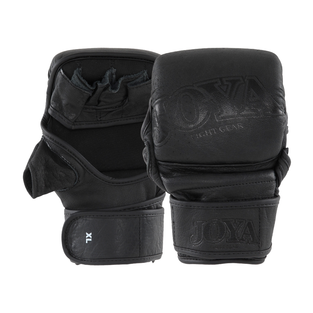"Joya ""Fight Fast"" Leather MMA Match Grip Faded Black-0"