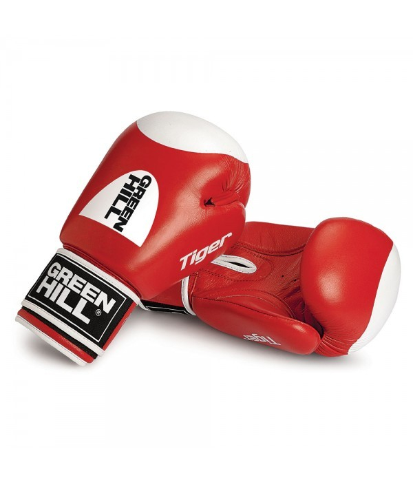 Green Hill Boxing Gloves Tiger Target 2.0 - Rood - jokasport.nl