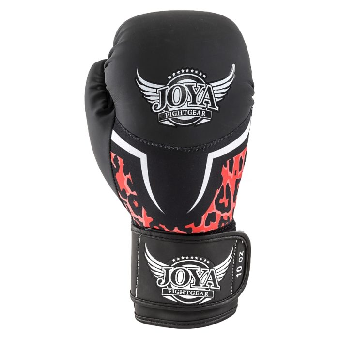 Joya Leopard Dames Bokshandschoenen Zwart - Rood-541676