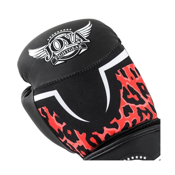 Joya Leopard Dames Bokshandschoenen Zwart - Rood-541680
