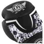 Joya Skull Dames Bokshandschoenen Zwart – Wit-541689