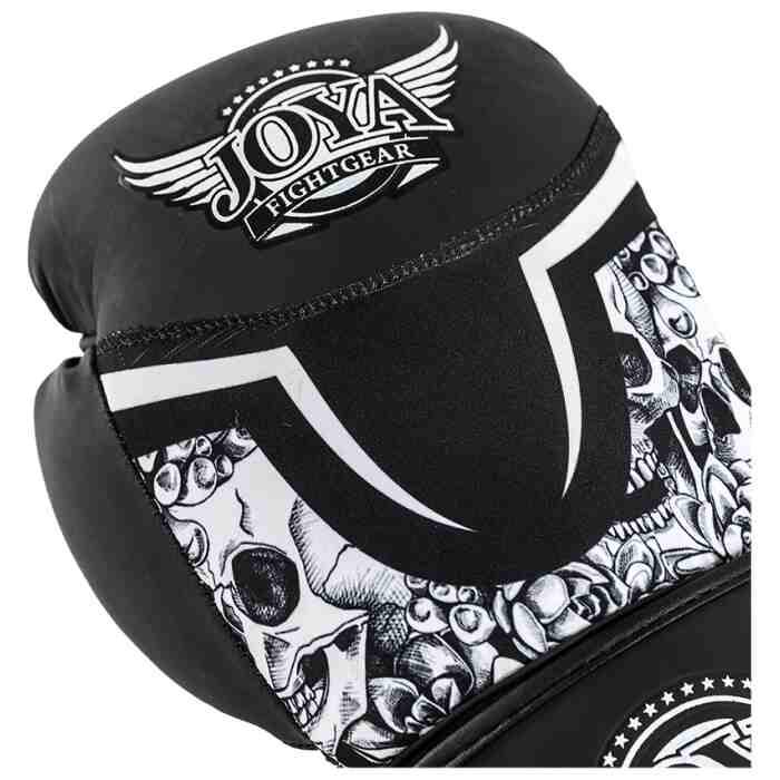 Joya Skull Dames Bokshandschoenen Zwart - Wit-541689