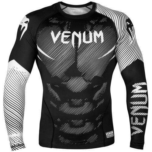 Venum Nogi 2.0 Rashguard - Long Sleeves - Black / White-L-0