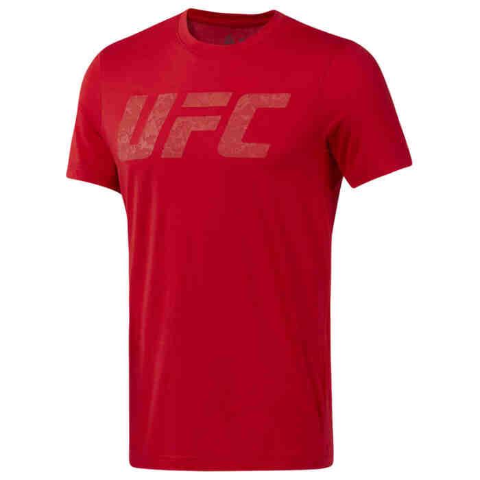 Reebok UFC Logo Tee Prired Red - jokasport.nl