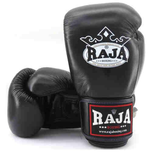 Raja Boxing Bokshandschoen Leder Zwart - jokasport.nl