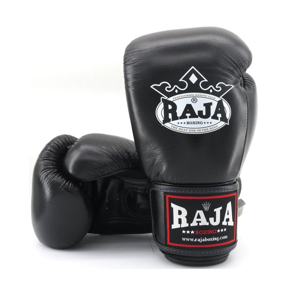 Raja Boxing Bokshandschoen Leder Zwart – jokasport.nl