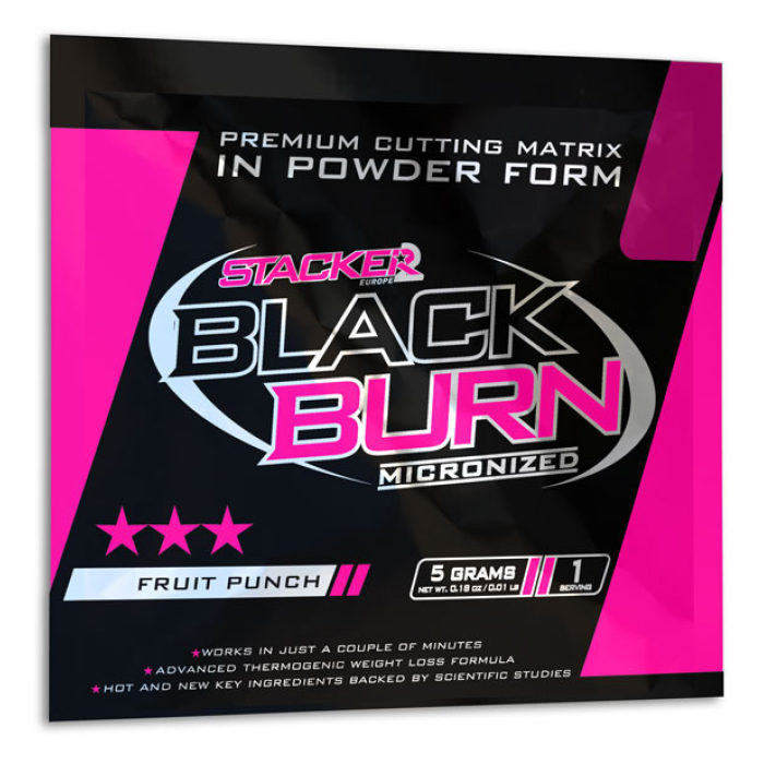 Stacker 2 Black Burn Micronized Testzakje - jokasport.nl