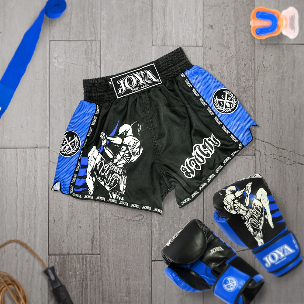 Joya Kickboksshort Fighter Junior Blauw-541777
