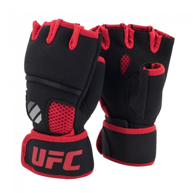 UFC Contender Quick Wrap Gel Binnenhandschoen Zwart/Rood - jokasport.nl