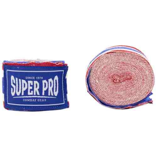 SUPER PRO BANDAGES ROOD/WIT/BLAUW - jokasport.nl
