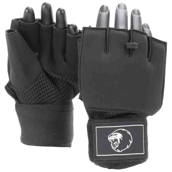 Super Pro Mexican Wrap Binnenhandschoenen Zwart/Wit-0