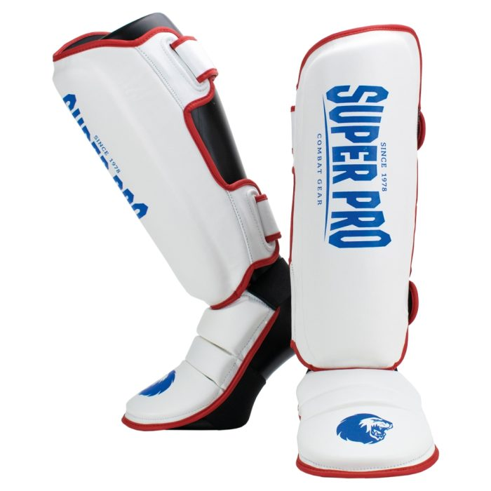 Super Pro Scheenbeschermer Protector Rood/Wit/Blauw-0