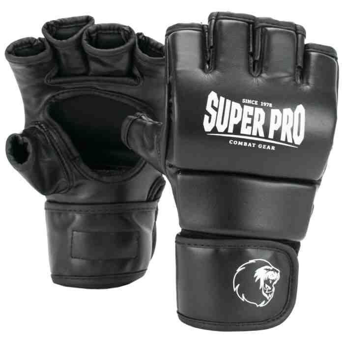 Super Pro Brawler MMA Handschoenen Zwart/Wit-0
