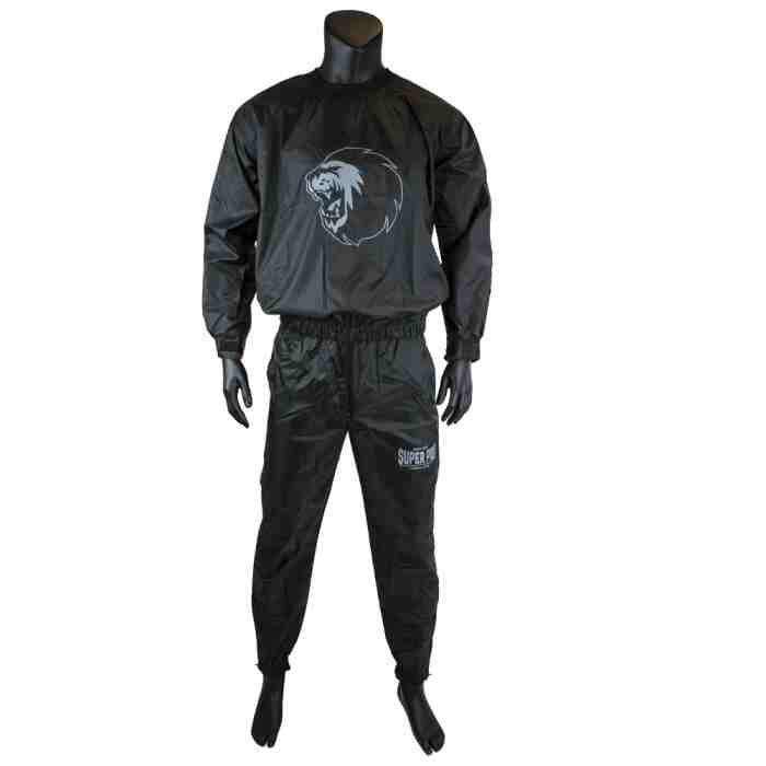 Super Pro Zweetpak/ Sweat Suit Zwart/Wit - Jokasport.nl