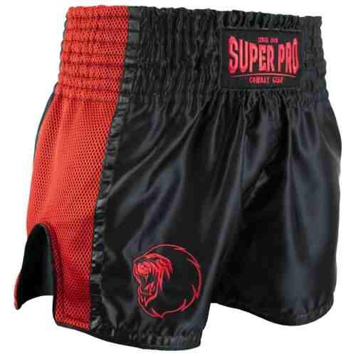 Super Pro Kickboksshort Brave Zwart/Rood - Jokasport.nl