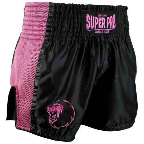 Super Pro Kickboksshort Brave Zwart/Roze - Jokasport.nl