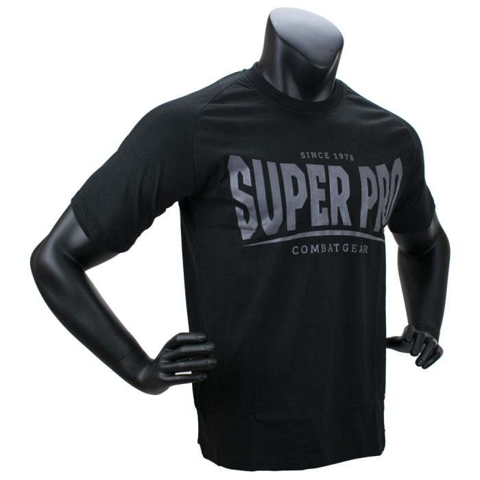 Super Pro T-Shirt S.P. Logo Zwart/Grijs-0