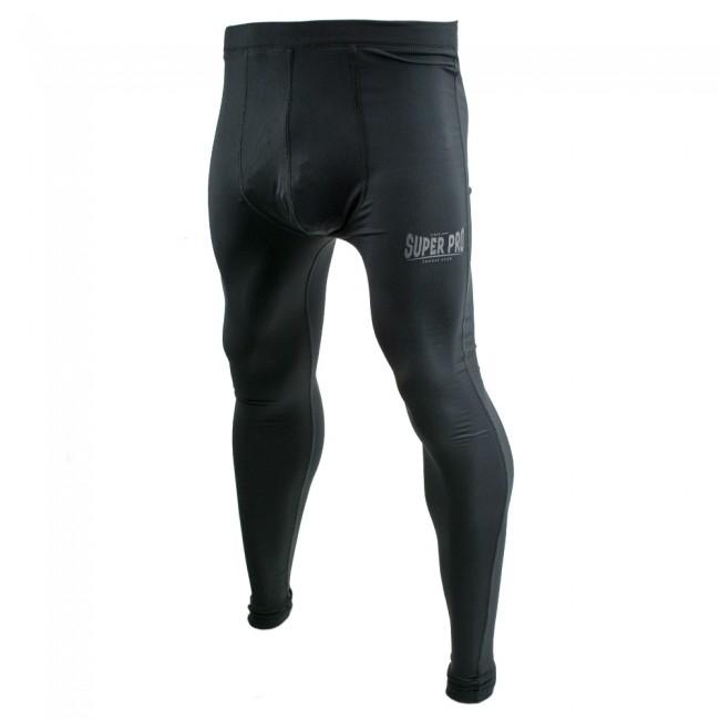 Super Pro Legging Men Lion/Super Pro Logo Zwart/Grijs-0