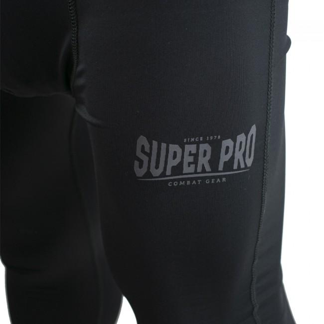 Super Pro Legging Men Lion/Super Pro Logo Zwart/Grijs-312144